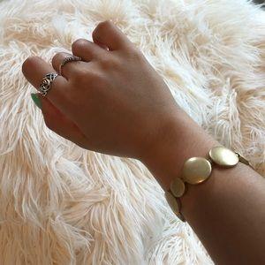 NWOT gold Kenneth Cole disc bracelet